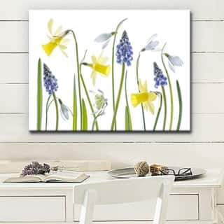 Spring' Floral Wrapped Canvas Wall Art