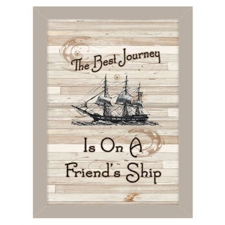 """Friendship Journey"" by Millwork Engineering, Ready to Hang Framed Print, Sand Frame"