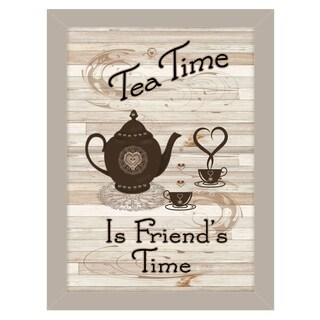 """""""Tea Time"""" by Millwork Engineering, Ready to Hang Framed Print, Sand Frame"""