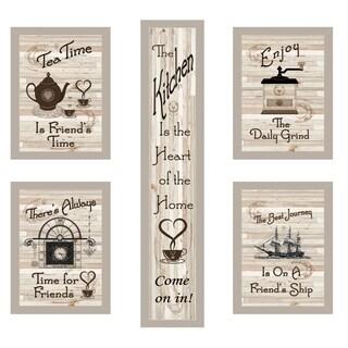 """""""Kitchen Friendship Collection"""" 5-Piece Vignette by Millwork Engineering, Sand Frame"""