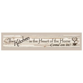 """Kitchen Is The Heart of The Home"" by Millwork Engineering, Ready to Hang Framed Print, Sand Frame"