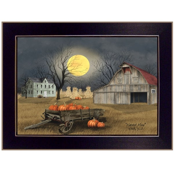 """Harvest Moon"" by Billy Jacobs, Ready to Hang Framed Print, Black Frame"