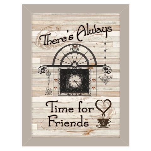 """""""Time for Friends"""" by Millwork Engineering, Ready to Hang Framed Print, Sand Frame"""