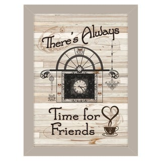 """Time for Friends"" by Millwork Engineering, Ready to Hang Framed Print, Sand Frame"