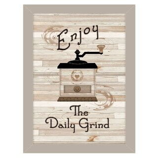"""""""The Daily Grind"""" by Millwork Engineering, Ready to Hang Framed Print, Sand Frame"""