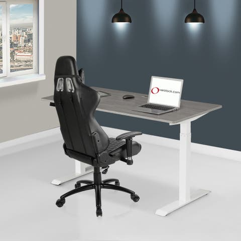 Modern 48-Inch Electric Height-Adjustable Sit and Standing Desk