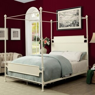 Furniture of America Moira Vintage Style Metal Canopy Bed
