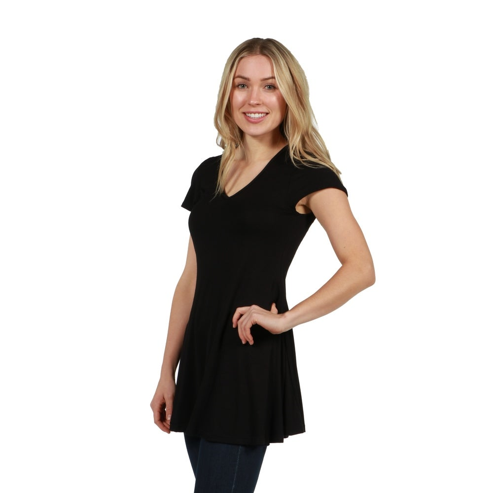 24seven Comfort Apparel Kathy Tunic Top