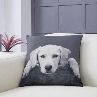 Labrador Puppy Decorative Toss Throw Accent Pillow by Danya B.