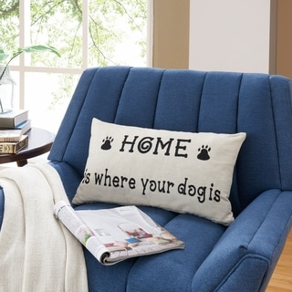 Decorative Toss Throw Dog Lover Cotton Accent Pillow by Danya B.