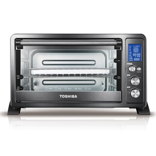 Toshiba AC25CEW-CHBS Convection Toaster Oven, Black Stainless Steel