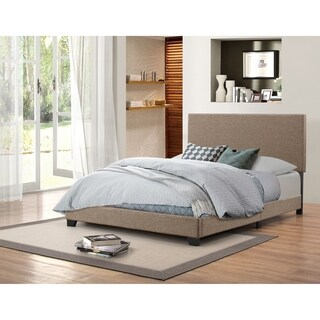 Handy Living Holly Brown Woven Upholstered Queen Bed