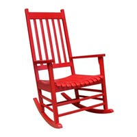 The Gray Barn Bluebird Solid Wood Porch Rocker