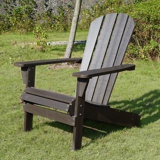Havenside Home Shelter Island Espresso Adirondack Chair