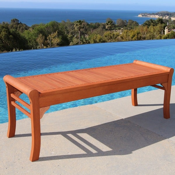 Shop Havenside Home Surfside Cochran 5 Foot Outdoor Wood Bench On