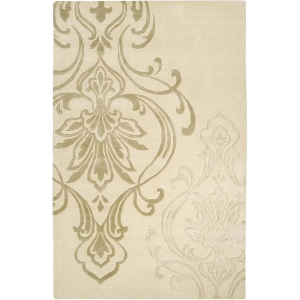 Silver Orchid Granada Hand-tufted Beige Wool Area Rug (5' x 8')