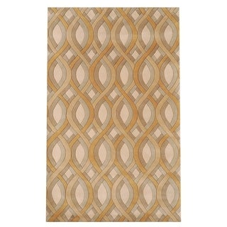 """Silver Orchid Blackwell Hand-tufted Geometric Wool Area Rug - 3'3"""" x 5'3"""""""