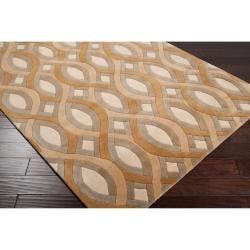 Silver Orchid Blackwell Hand-tufted Geometric Wool Area Rug - 8' x 11'