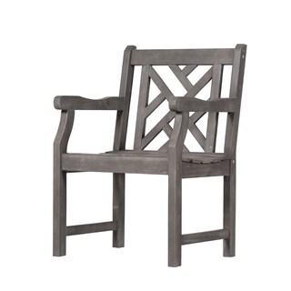The Gray Barn Bluebird Outdoor Hand-scraped Acacia Hardwood Arm Chair