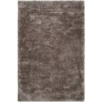 Silver Orchid Florelle Hand-woven Brown Super Soft Shag Area Rug (5' x 8')