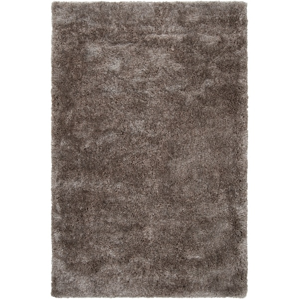 Silver Orchid Florelle Hand-woven Brown Super Soft Shag Area Rug - 5' x 8'