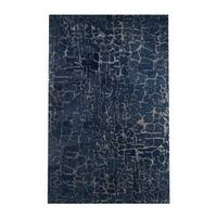 Silver Orchid Michel Hand-tufted Contemporary Blue Papillion New Zealand Wool Abstract Area Rug (8' x 11')
