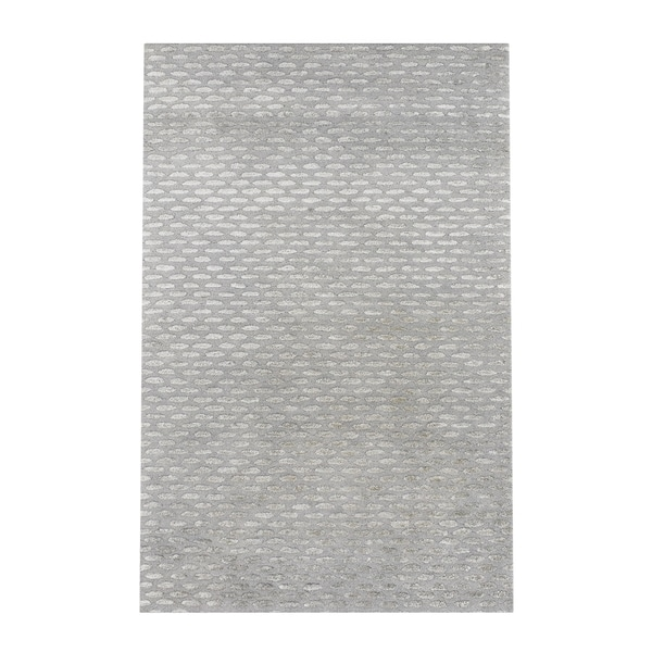Silver Orchid Pradot Hand-tufted Solid Grey Wool Area Rug - 5' x 8'