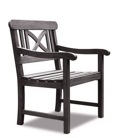 Surfside Weather-resistant Outdoor Hand-scraped Hardwood Armchair by Havenside Home