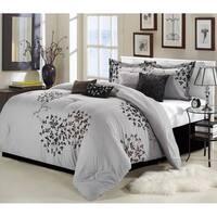 Silver Orchid Mitchum Grey/Black 8-piece Comforter Set