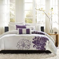 Madison Park Bridgette Purple 6-piece Duvet Cover Set