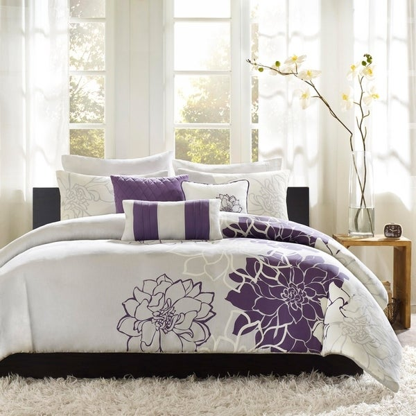 The Curated Nomad Escudero Purple 6-piece Duvet Cover Set