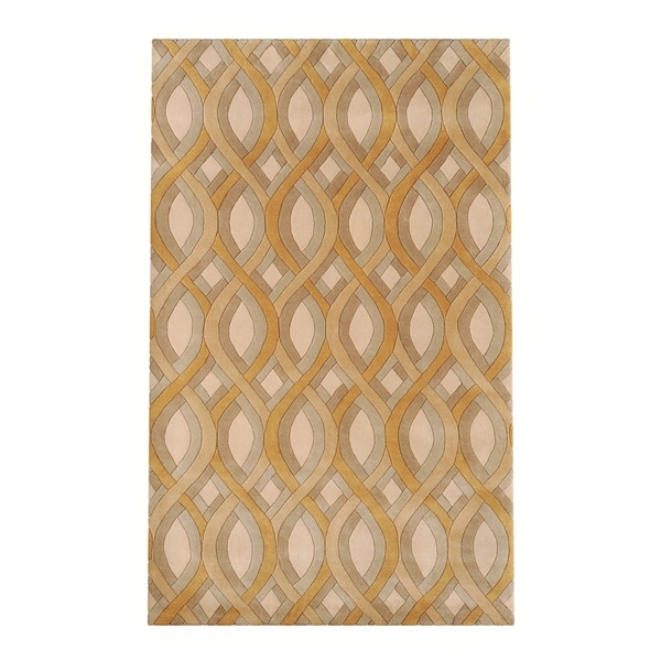 Silver Orchid Blackwell Hand-tufted Beige Geometric Wool Area Rug - 2' x 3'