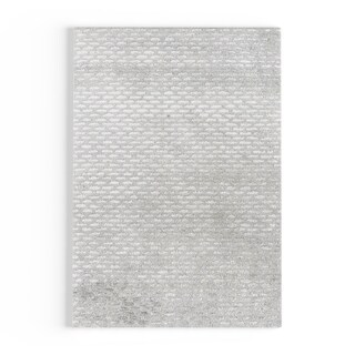 Silver Orchid Pradot Hand-tufted Solid Grey Wool Area Rug - 2' x 3'