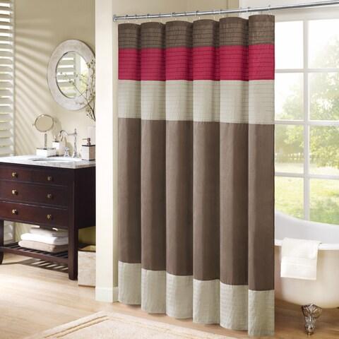 Palm Canyon Linden Colorblocked Shower Curtain