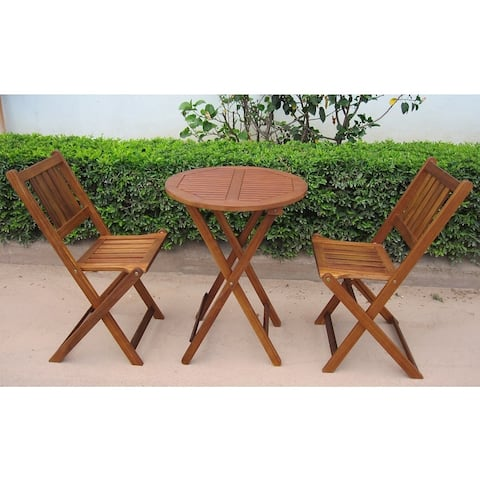 Havenside Home Silverton Acacia Hardwood Outdoor Bistro Set