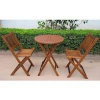 Porch & Den Buckhead Lenox Acacia Hardwood Outdoor Bistro Set