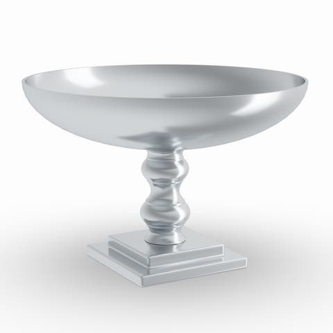 Silver Orchid Olivia 10-inch Silver Aluminum Bowl