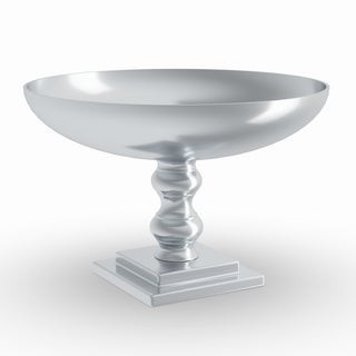 Link to Silver Orchid Olivia 10-inch Silver Aluminum Bowl Similar Items in Decorative Accessories