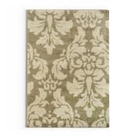 "Silver Orchid Barrella Damask Floral Shag Ivory/ Beige Rug - 3'3"" x 5'5"""