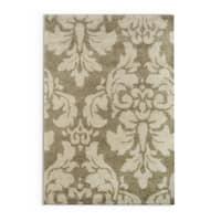"Silver Orchid Barrella Damask Floral Shag Ivory/ Beige Rug - 5'3"" x 7'6"""