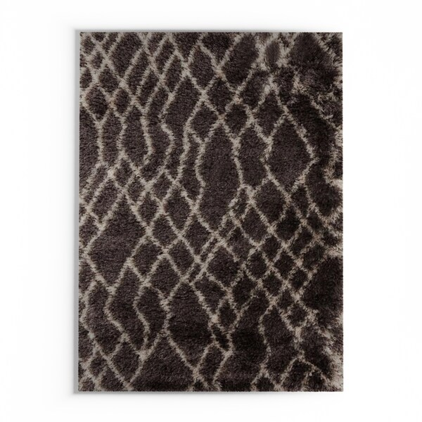Silver Orchid Rozet Hand-Woven Geometric Area Rug - 9' x 12'