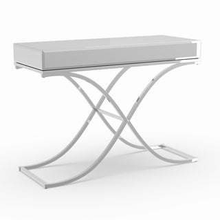 Silver Orchid Olivia Chrome Mirrored Sofa/ Console Table