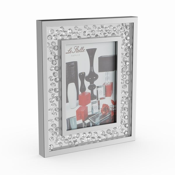 Silver Orchid Olivia Silvertone Wood Mirror Photo Frame