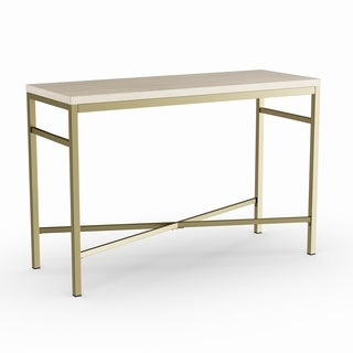 Silver Orchid Grant Faux Stone Sofa/ Console Table