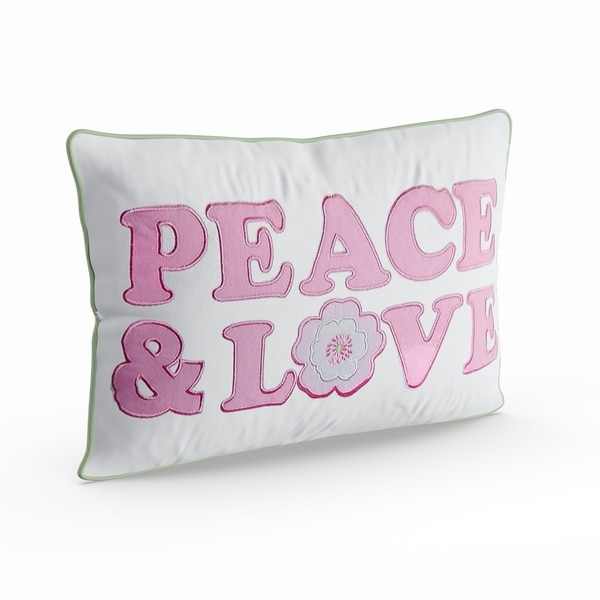 Taylor & Olive Sunfish Pastel Peace & Love Decorative Throw Pillow