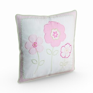 Silver Orchid Bouber Pastel Floral Decorative Pillow
