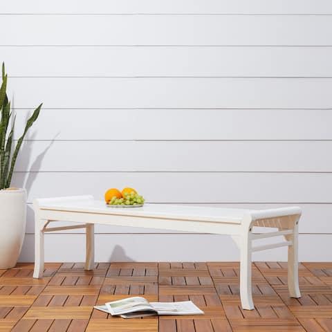 Havenside Home Surfside Cochran 5-foot White Outdoor Wood Bench