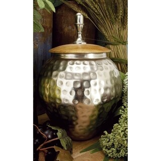 Silver Orchid Olivia Metal Wood Jar 8-inch x 12-inch