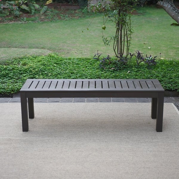 Shop Havenside Home Surfside Outdoor Backless Bench Free Shipping