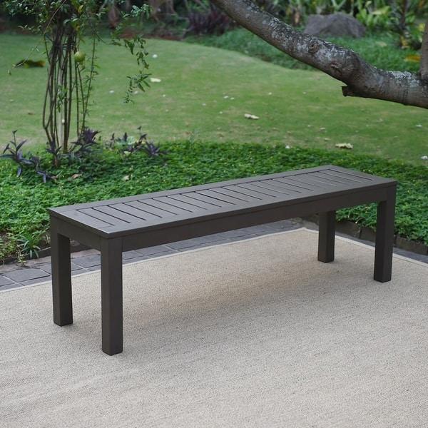 Surprising Shop Havenside Home Surfside Outdoor Backless Bench Free Lamtechconsult Wood Chair Design Ideas Lamtechconsultcom